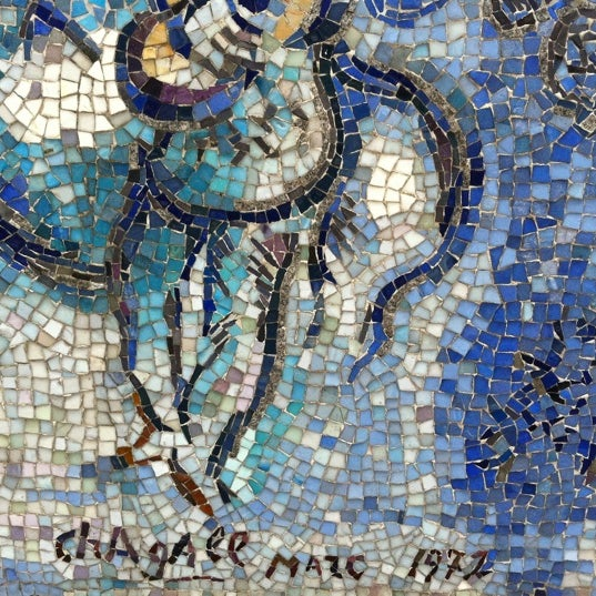 "Photo taken at Chagall Mosaic, ""The Four Seasons"" by Donna J. on 7/29/2011"