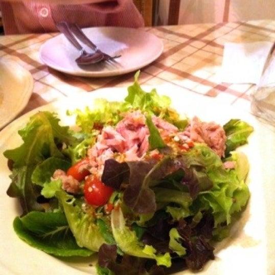 Spicy tuna salad is good!