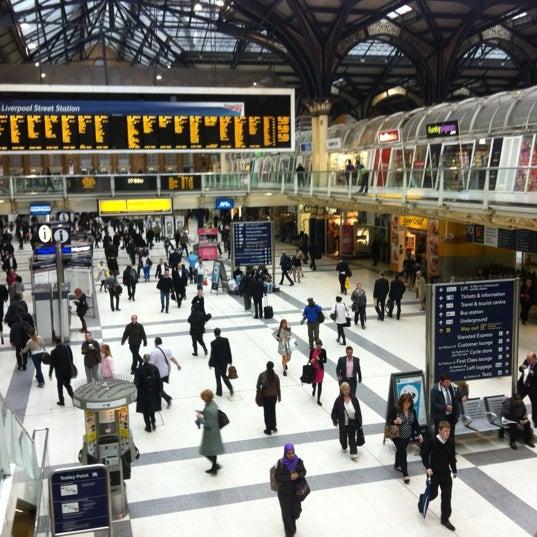 Photo taken at London Liverpool Street Railway Station (ZLS) by Rowland W. on 7/4/2012