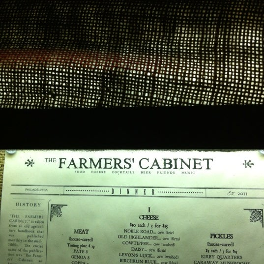 Photo taken at The Farmers' Cabinet by Amith N. on 6/29/2012