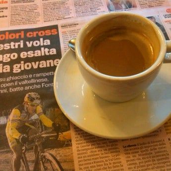 Photo taken at Bar Vittoria by Bob C. on 1/9/2012