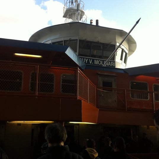 Photo taken at Staten Island Ferry Boat - Guy V. Molinari by Elizabeth S. on 3/24/2011