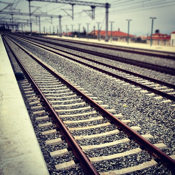 Photo taken at Σταθμός Προαστιακού Κιάτο (Kiato Suburban Rail Station) by George @gardegeo G. on 4/13/2012
