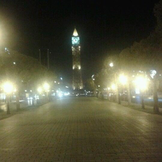 Photo taken at Avenue Habib Bourguiba I شارع الحبيب بورقيبة by Gassam H. on 8/23/2012