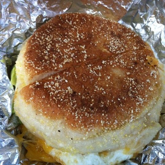Try their breakfast sandwiches here with their famous English muffin. Best breakfast sandwich you'll ever have!