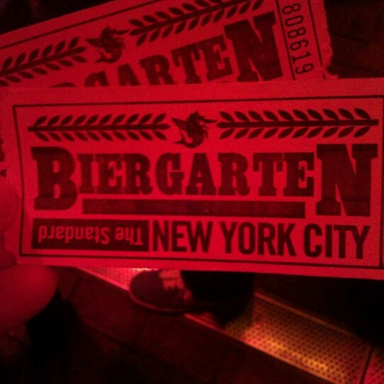 Photo taken at The Biergarten at The Standard by Melissa C. on 12/4/2011