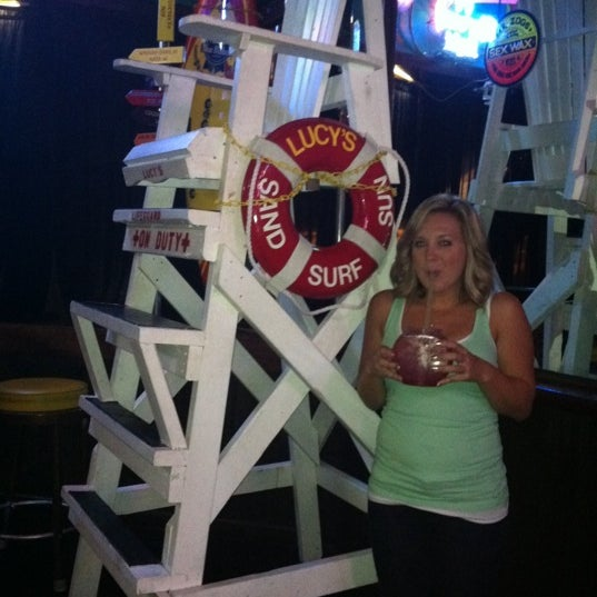 Photo taken at Lucy's Retired Surfers Bar by Desirée E. on 9/4/2011