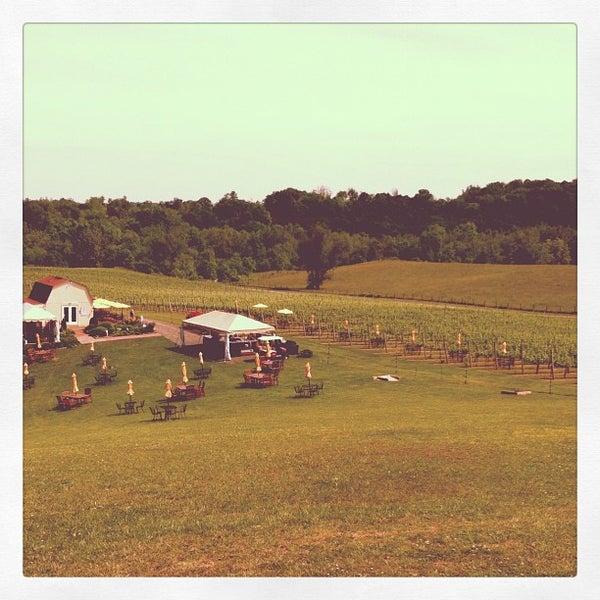 Photo taken at Three Fox Vineyards by Alan B. on 5/18/2012
