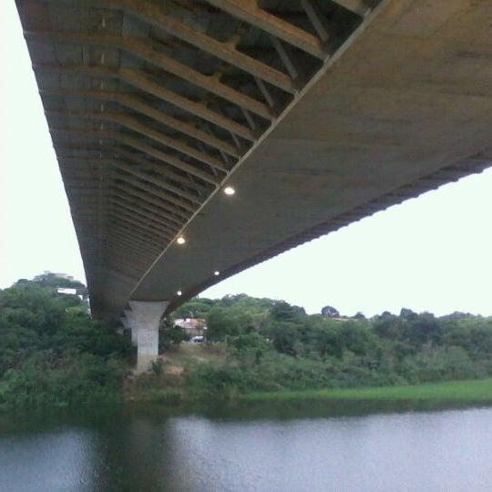 Photo taken at Ponte Estaiada by Thiago P. on 1/5/2012