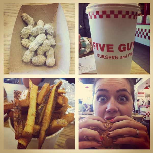 Photo taken at Five Guys by Aaron B. on 5/12/2012