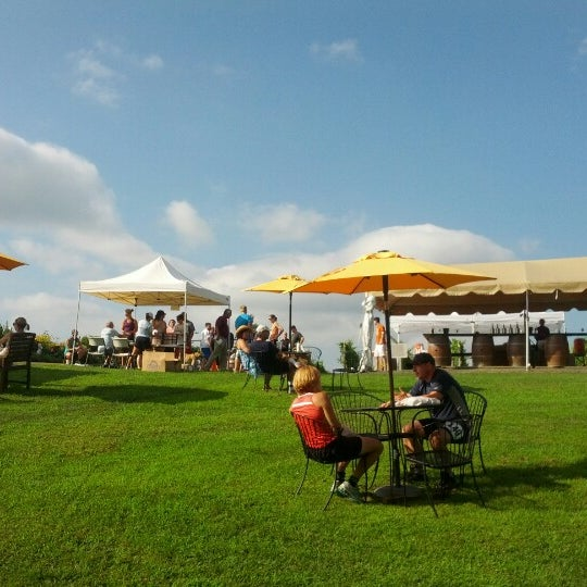 Photo taken at Three Fox Vineyards by Jeremy B. on 7/29/2012
