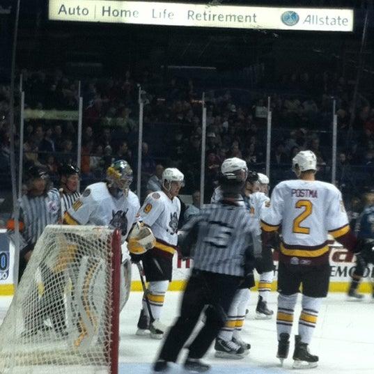 Photo taken at Allstate Arena by Jennifer Z. on 3/6/2011