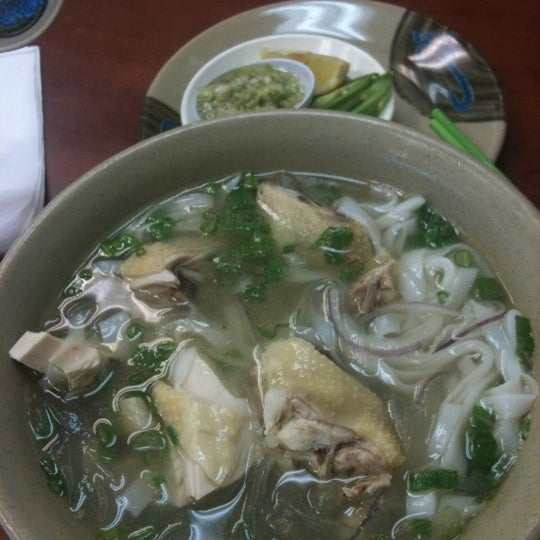 Comfort food - chicken (with bones) noodle soup
