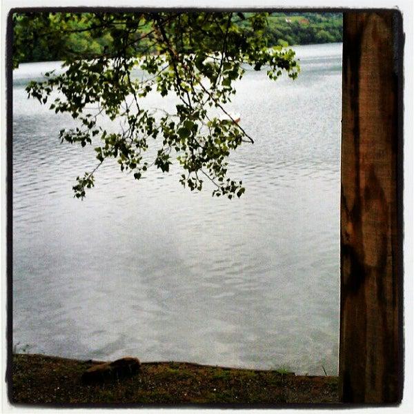 Photo taken at Lago di Suviana by Lorenzo M. on 5/13/2012
