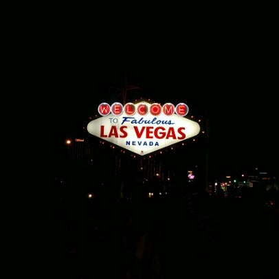 Photo taken at Welcome To Fabulous Las Vegas Sign by James P. on 8/16/2012