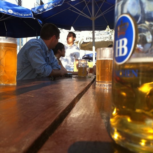 Photo taken at Zeppelin Hall Biergarten by Elanio B. on 8/5/2011