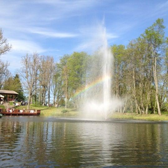 Photo taken at Jaunmoku pils by Наталья О. on 5/19/2012