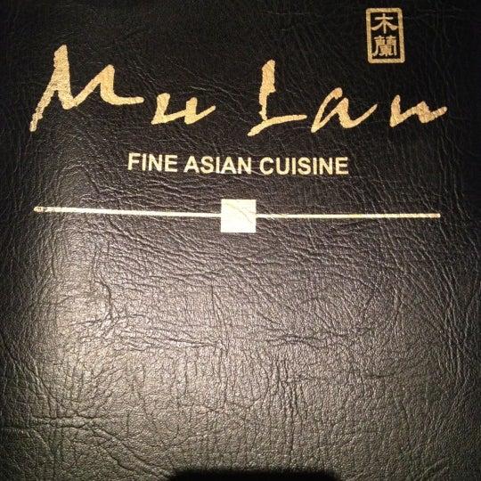 Mulan Restaurant Cascade Menu
