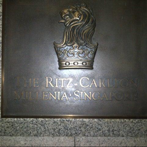 Photo taken at The Ritz-Carlton, Millenia Singapore by Isaac S. on 8/26/2012