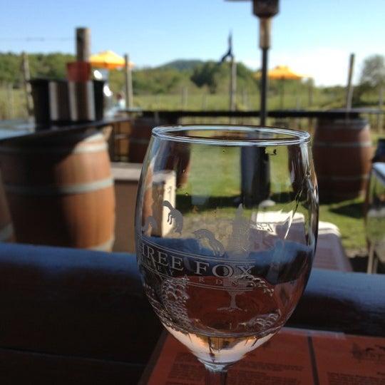 Photo taken at Three Fox Vineyards by Desiree D. on 4/29/2012