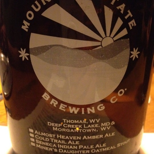 Photo taken at Mountain State Brewing Co. by RyanLikesRed on 5/6/2012