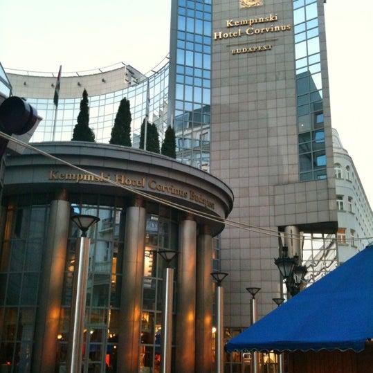 Photo taken at Kempinski Hotel Corvinus by Dorel M. on 3/28/2011