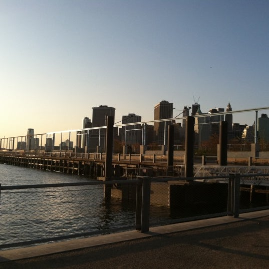 Photo taken at Brooklyn Bridge Park - Pier 6 by Kara D. on 4/13/2012
