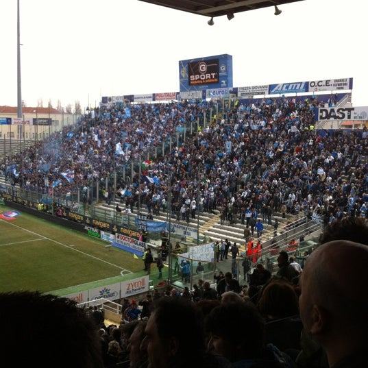 Photo taken at Stadio Ennio Tardini by Giulio S. on 3/4/2012