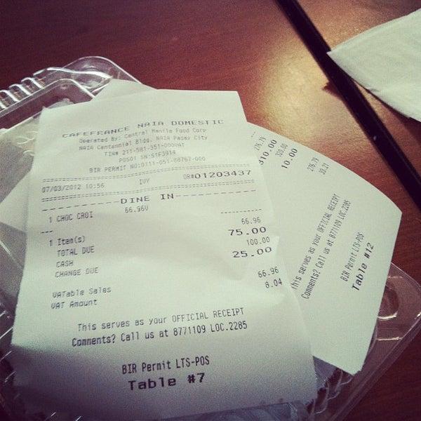 Photo taken at Cafe France by Patrick S. on 7/3/2012