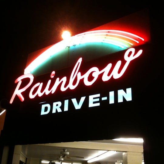 Photo taken at Rainbow Drive-in by Kat W. on 8/21/2011
