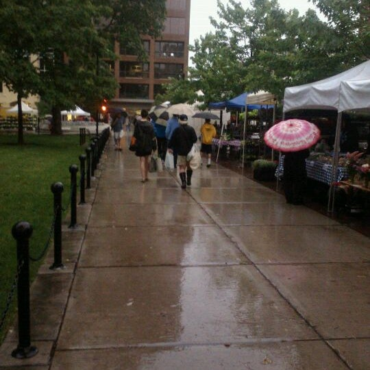 Photo taken at Dane County Farmers' Market by Emily F. on 5/26/2012