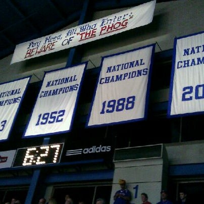 Photo taken at Allen Fieldhouse by Anthony Q. on 1/5/2012