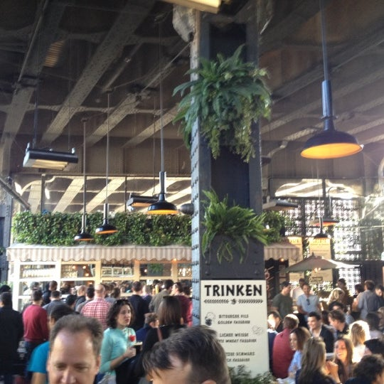 Photo taken at The Biergarten at The Standard by Leigh F. on 4/6/2012