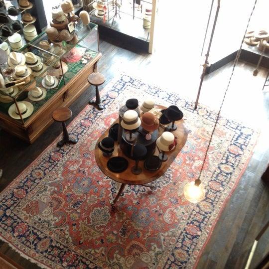 Photo taken at Goorin Bros. Hat Shop by Melissa d. on 3/17/2012