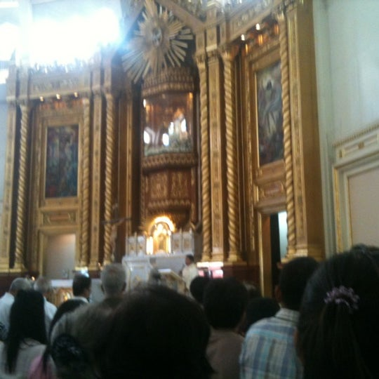 Photo taken at National Shrine of Our Lady of Peace and Good Voyage (Antipolo Cathedral) by Jonna B. on 6/3/2012