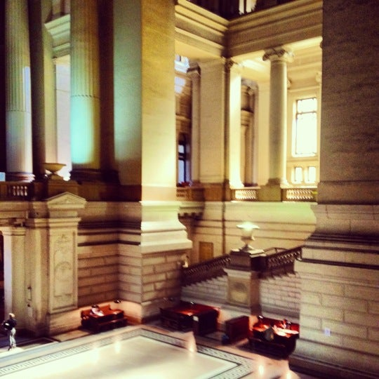 Photo taken at Justitiepaleis / Palais de Justice by Charlotte on 8/30/2012