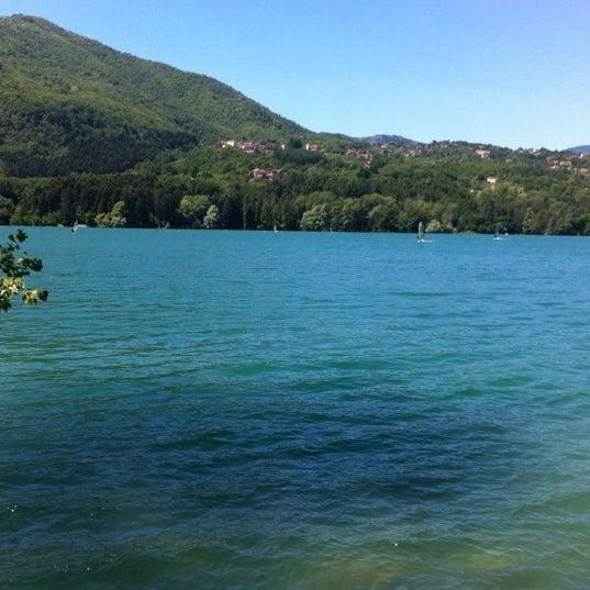 Photo taken at Lago di Suviana by Cristiano M. on 7/8/2012