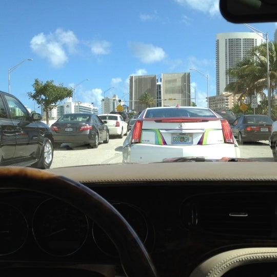 Photo taken at Waiting For The Hallandale Bridge by Jan F. on 1/26/2012