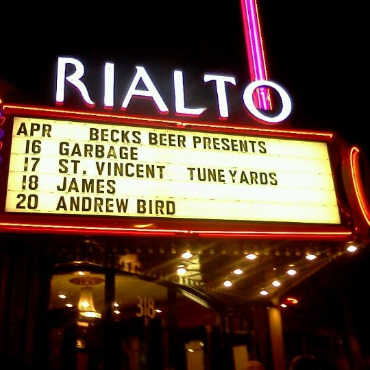 Photo taken at The Rialto Theatre by Veronica K. on 4/17/2012