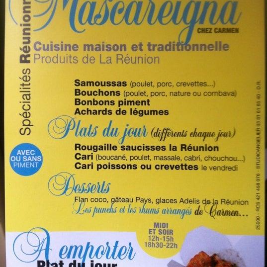 Mascareigna chez carmen cuisine traditionnelle de la - Cuisine de la reunion ...