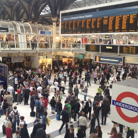Photo taken at London Liverpool Street Railway Station (ZLS) by Paul D. on 6/29/2012