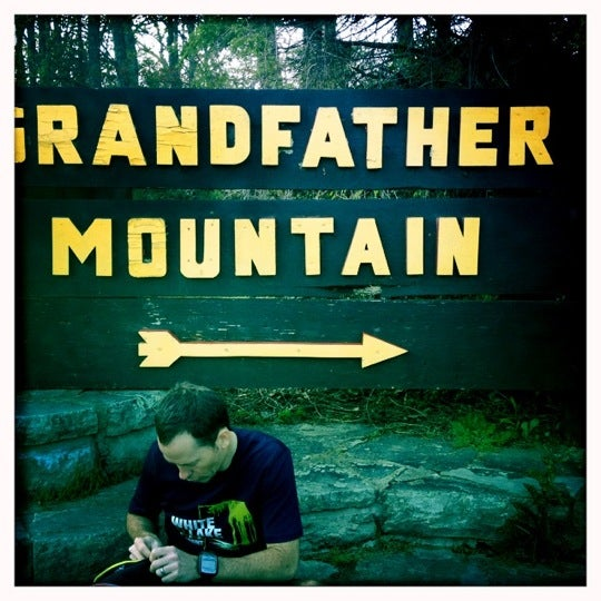 Photo taken at Grandfather Mountain by Laura H. on 5/11/2012