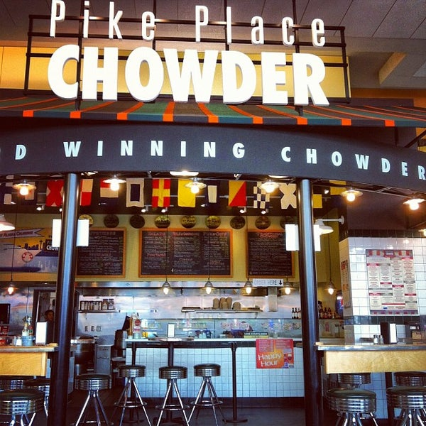 Pike place chowder seafood restaurant in seattle central for Fish restaurant seattle