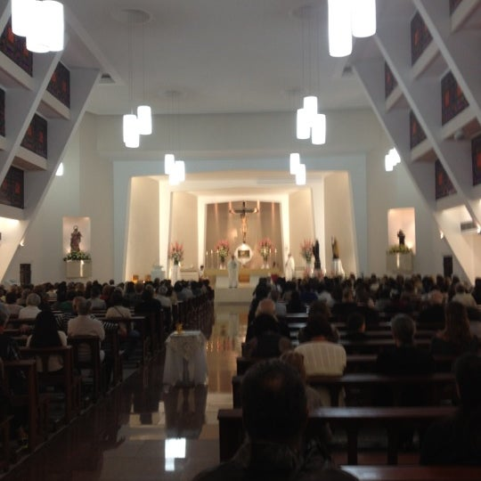 Photo taken at Paróquia Santa Mônica by Victor B. on 8/28/2012