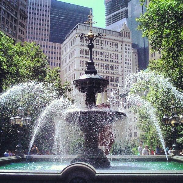 Photo taken at City Hall Park by André Z. on 8/16/2012