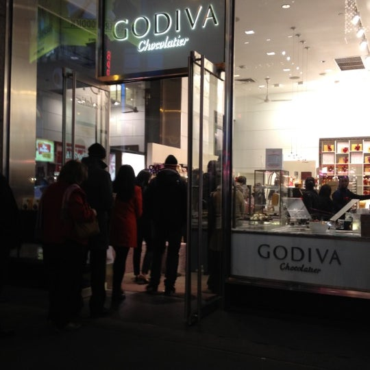 Photo taken at Godiva Chocolatier by Marty T. on 2/15/2012