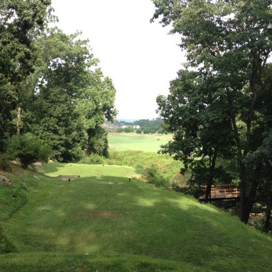 Photo taken at Raspberry Falls Golf & Hunt Club by Brandon F. on 7/14/2012
