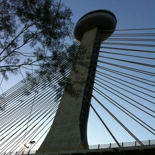 Photo taken at Ponte Estaiada by Dani J. on 5/20/2012
