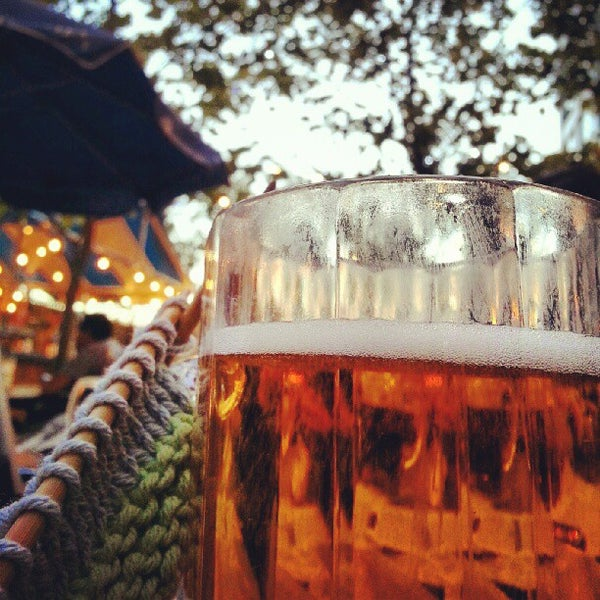 Photo taken at Zeppelin Hall Biergarten by Caitlin S. on 9/11/2012