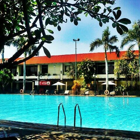 Photo taken at Graha Residence Swimming Pool by Affan C. on 6/25/2012